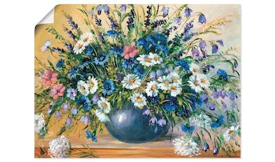 Artland Wandbild »Vase mit Kornblumen« kaufen