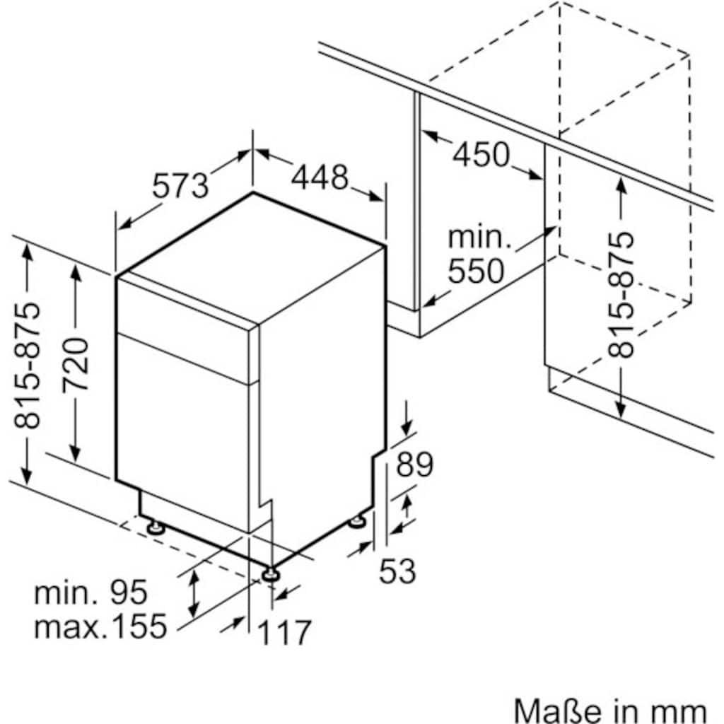 BOSCH Unterbaugeschirrspüler »SPU6ZMS35E«, Serie 6, SPU6ZMS35E, 10 Maßgedecke