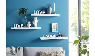 """Home affaire Wandregal """"Live  -  Love  -  Laugh"""" (3er - Set) kaufen"""