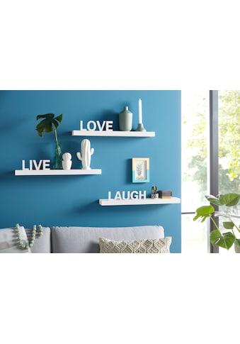 my home Wandregal »Live - Love - Laugh«, (Set, 3 St., 3-tlg. Set), Dekoregal,... kaufen
