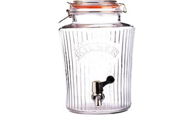 KILNER Getränkespender »VINTAGE«, für gekühlte Getränke mit leichtgängigem Zapfhahn, 8... kaufen