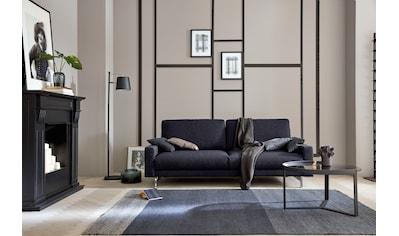 hülsta sofa 2-Sitzer »hs.450«, Fußgestell Chrom glänzend, Breite 164 cm, wahlweise in Stoff oder Leder, mit schmaler Armlehne kaufen