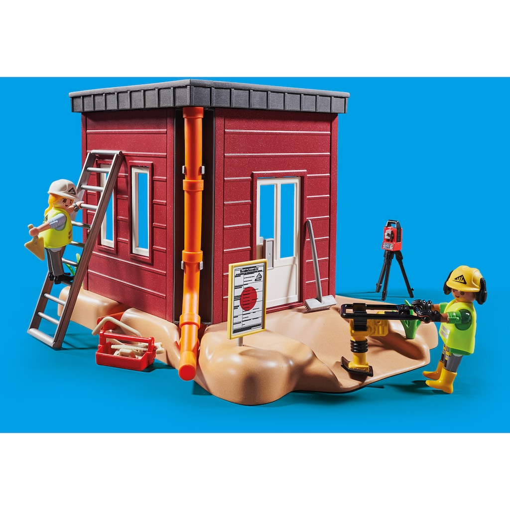 Playmobil® Konstruktions-Spielset »Minibagger mit Bauteil (70443), City Action«, ; Made in Germany