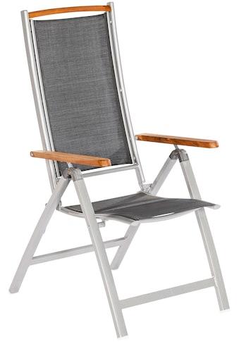 MERXX Gartenstuhl »Siena«, Alu/Textil/Akazie, verstellbar kaufen