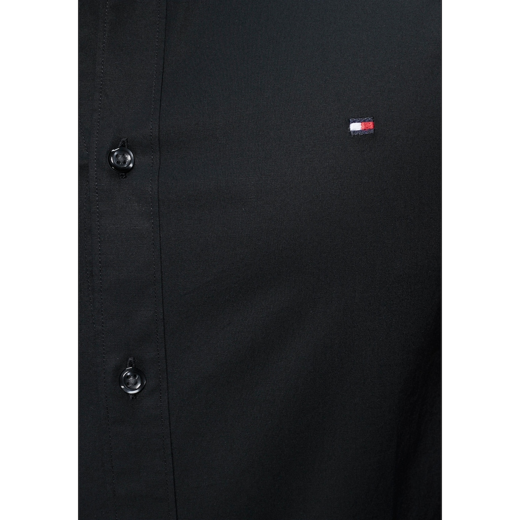 TOMMY HILFIGER Langarmhemd »CORE STRETCH SLIM FIT POPLIN SHIRT«
