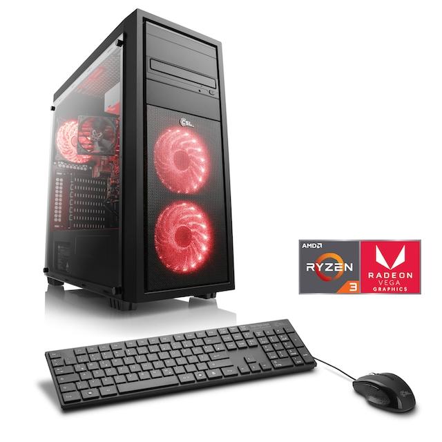 CSL Gaming PC | Ryzen 3 2200G | Radeon Vega 8 | 8 GB DDR4 | SSD »Sprint T8390 Windows 10 Home«