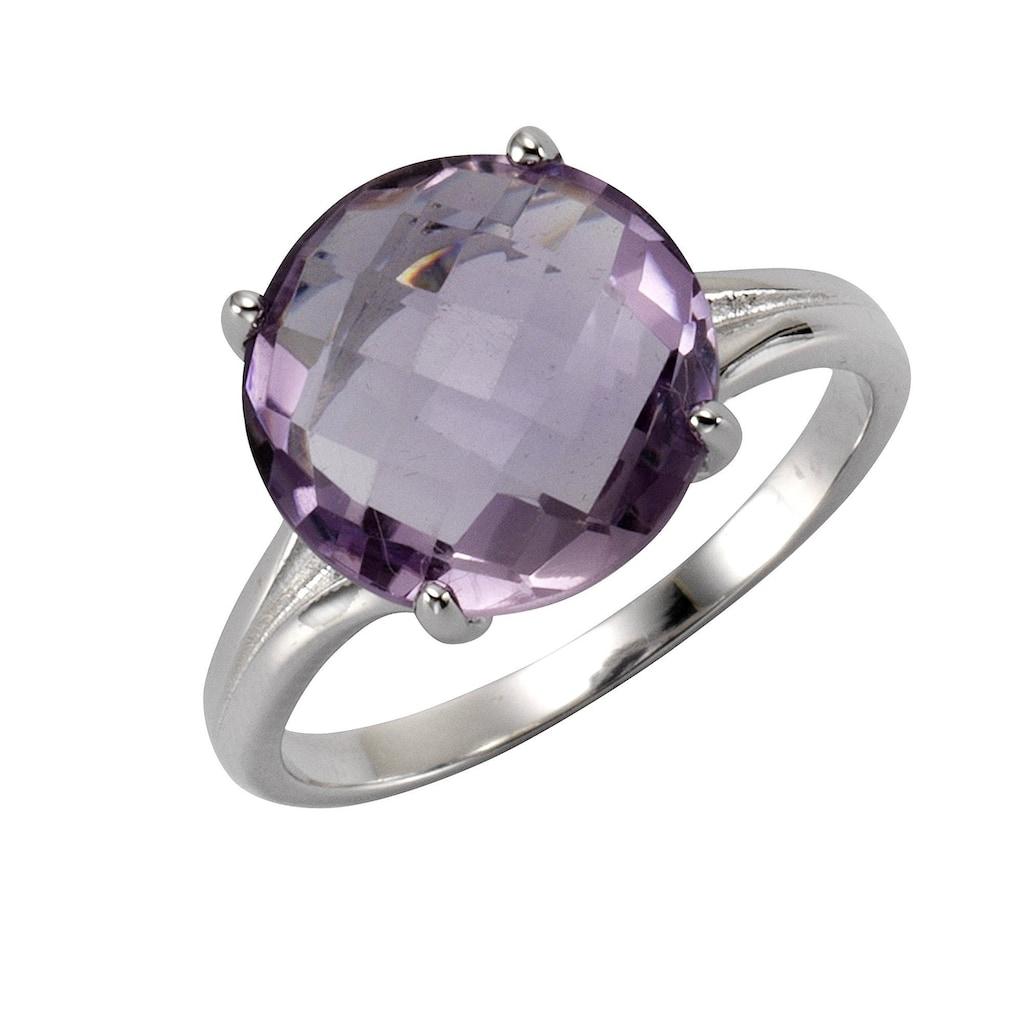 Zeeme Fingerring »925/- Sterling Silber rhodiniert Amethyst«, Ring