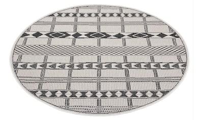 Leonique Teppich »Yani«, rund, 3 mm Höhe, Wohnzimmer, In- und Outdoor geeignet kaufen