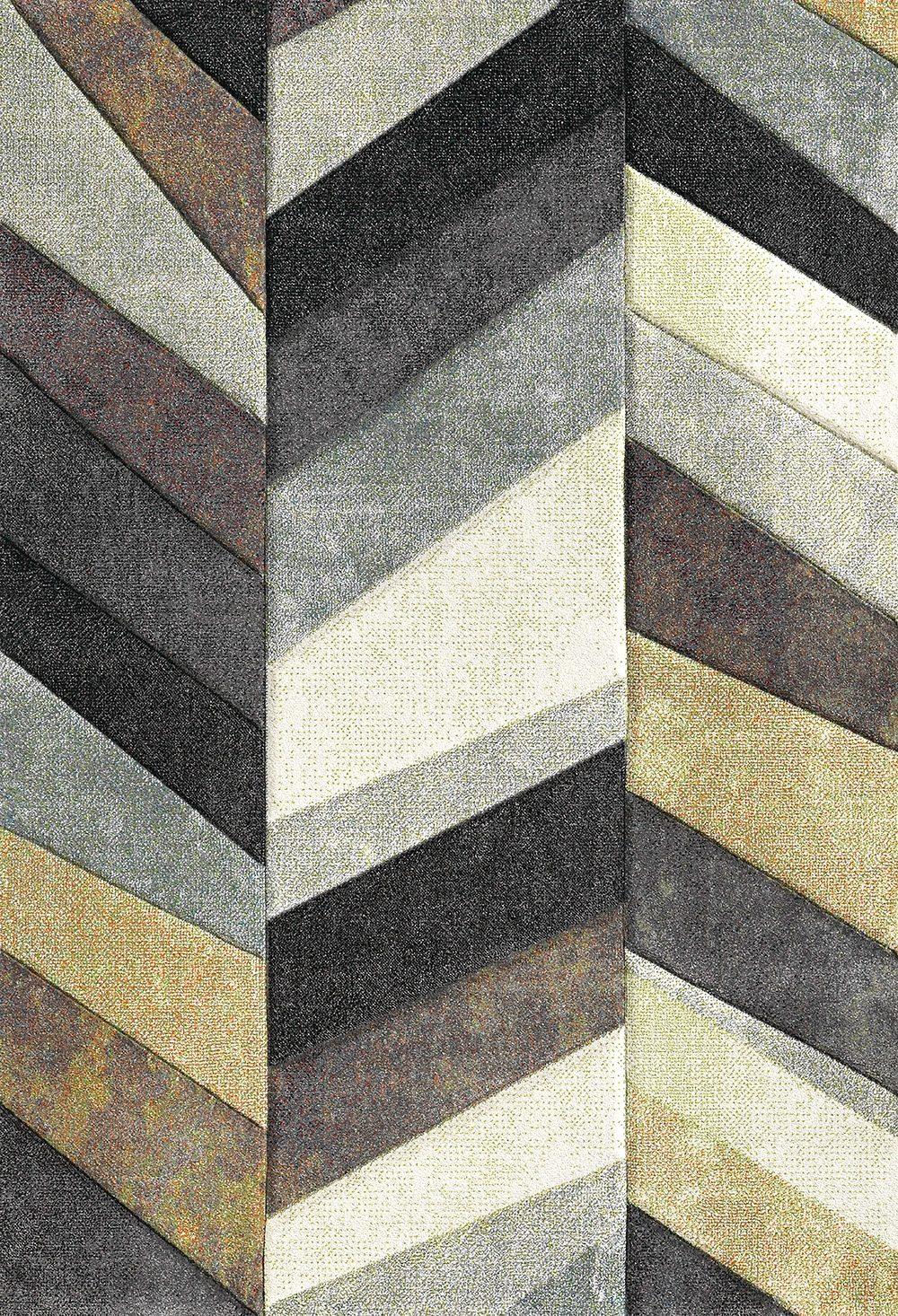 Teppich, »BELIS PARKETT«, merinos, rechteckig, Höhe 13 mm, maschinell gewebt