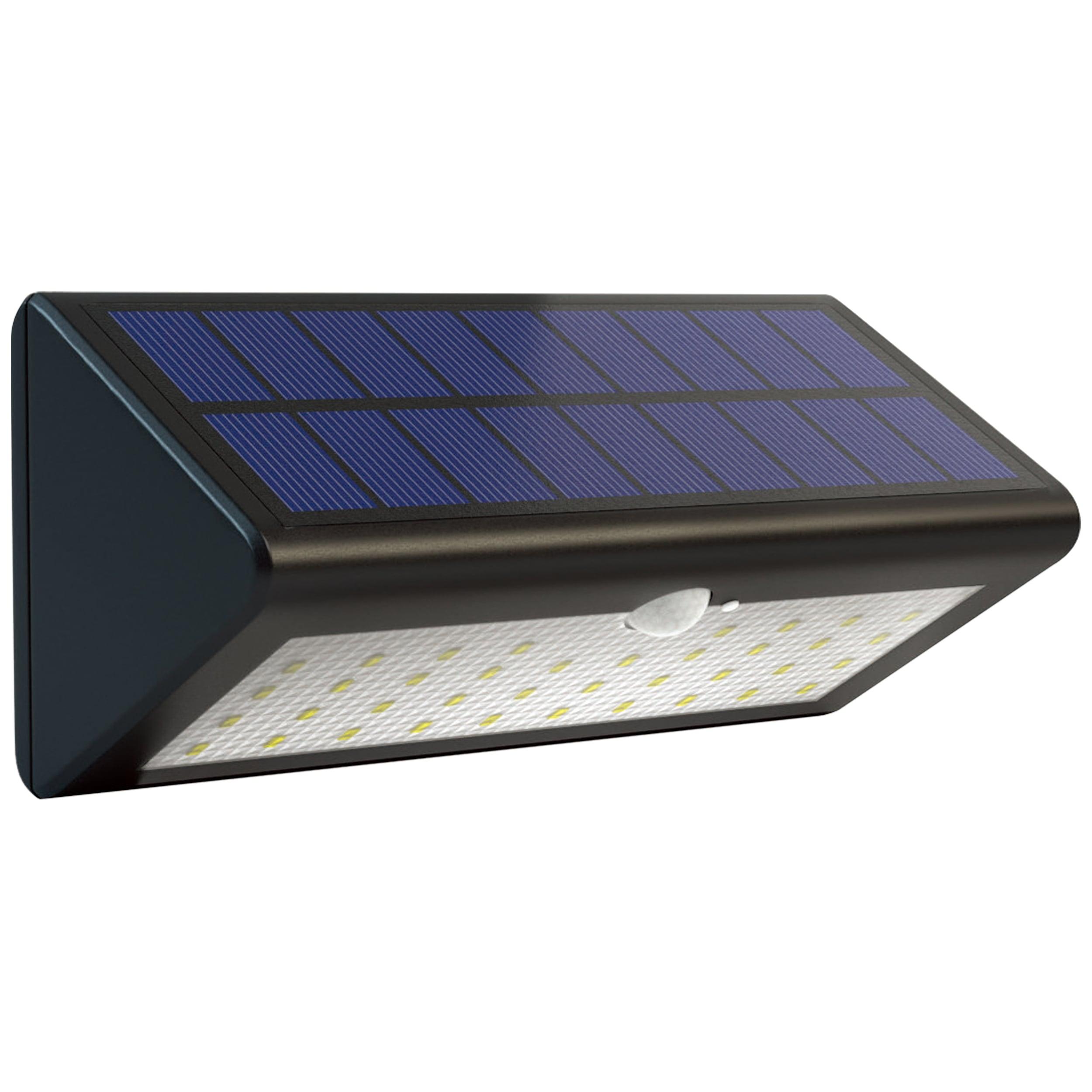 Brilliant Leuchten Arc Außenwandleuchte Solar mit Bewegungsmelder schwarz-matt