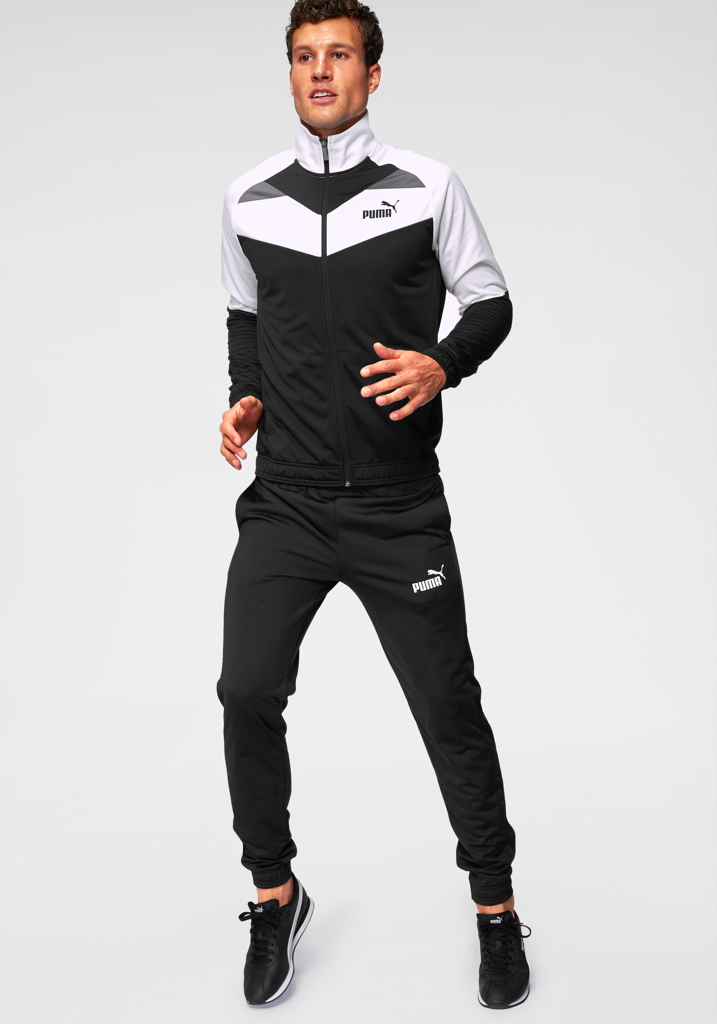 PUMA Trainingsanzug »ICONIC TRICOT SUIT Cl« | Sportbekleidung > Sportanzüge > Trainingsanzüge | Schwarz | Puma