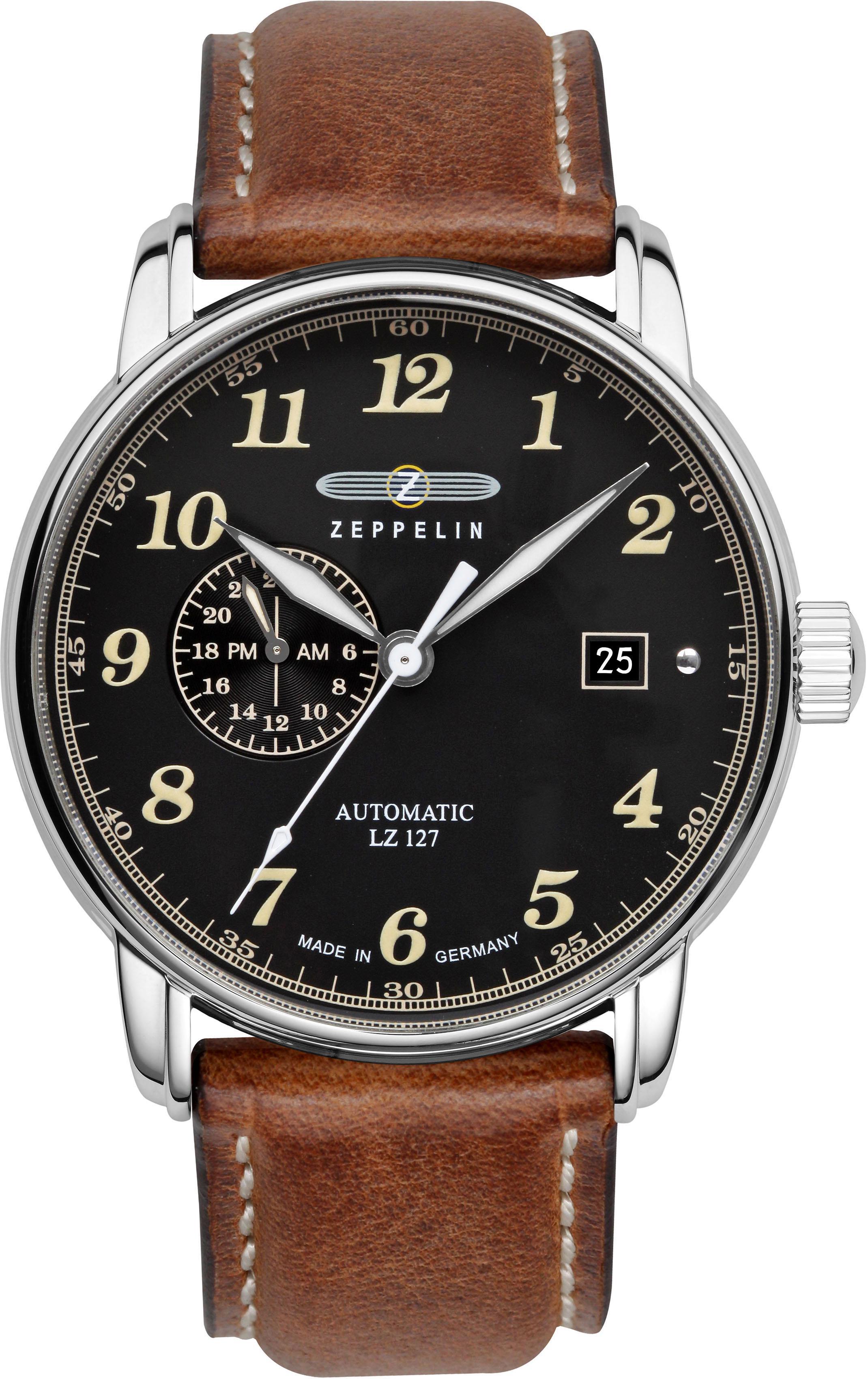 ZEPPELIN Automatikuhr Graf Zeppelin 8668-2   Uhren > Automatikuhren   Braun   Zeppelin