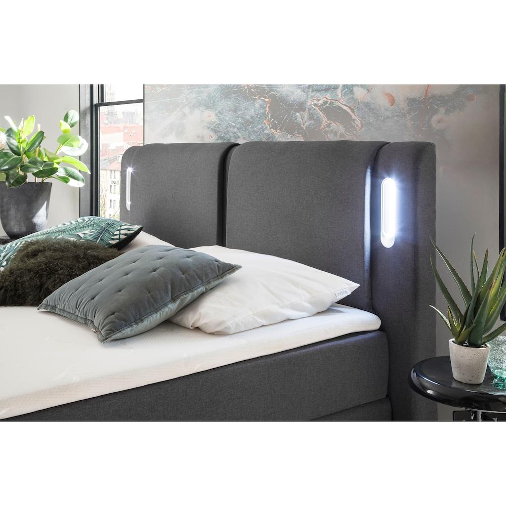 meise.möbel Boxspringbett, mit LED-Beleuchtung und Topper