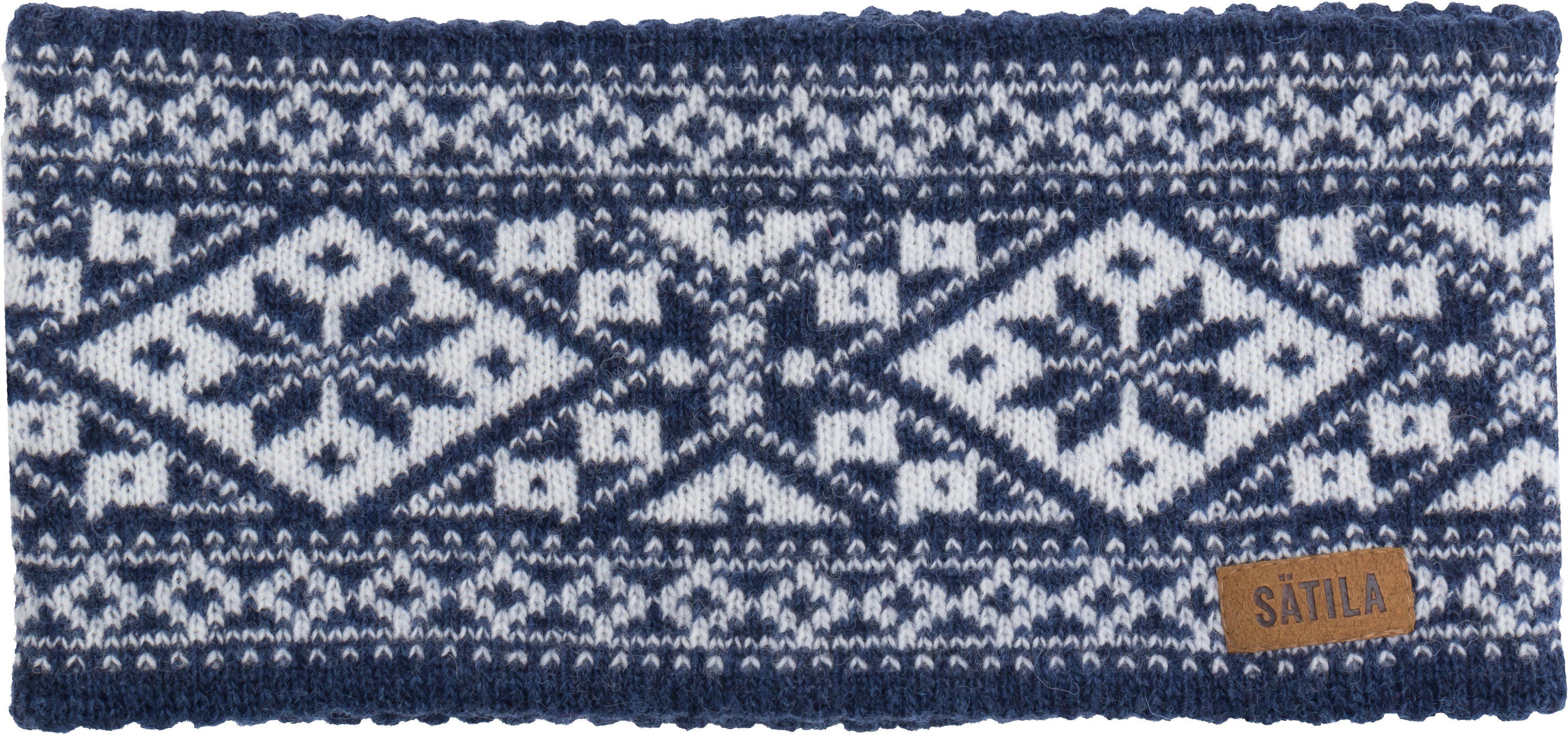 Sätila of Sweden Stirnband mit nordischem Muster Grace   Accessoires > Mützen > Stirnbänder   Blau   Ab - Polyamid   Sätila Of Sweden