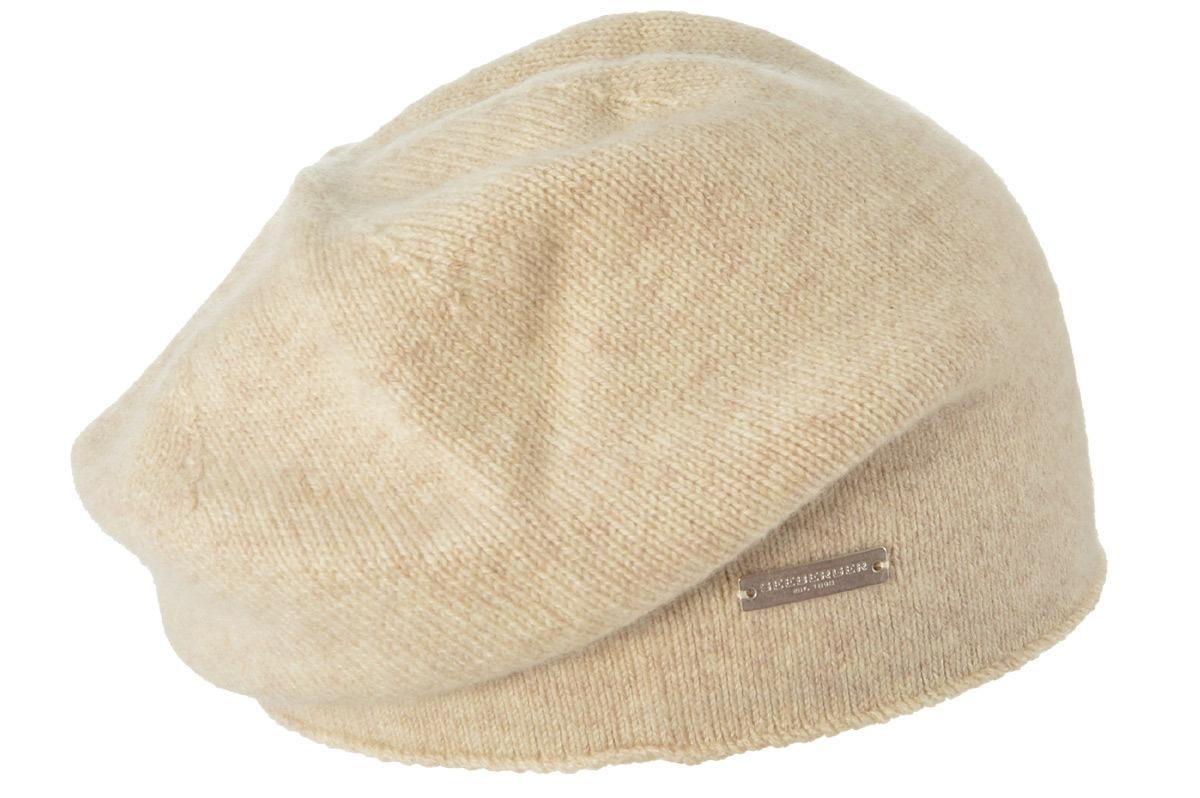 seeberger -  Strickmütze Baske mit Rollkante in 100% Cashmere 17702-0