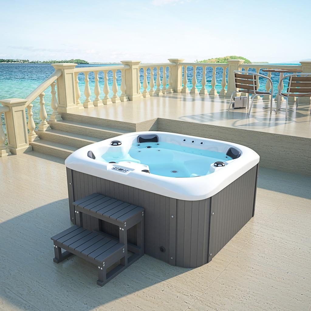 HOME DELUXE Whirlpool »Sea Star«, mit Treppe und Abdeckung, BxLxH: 160x180x79 cm