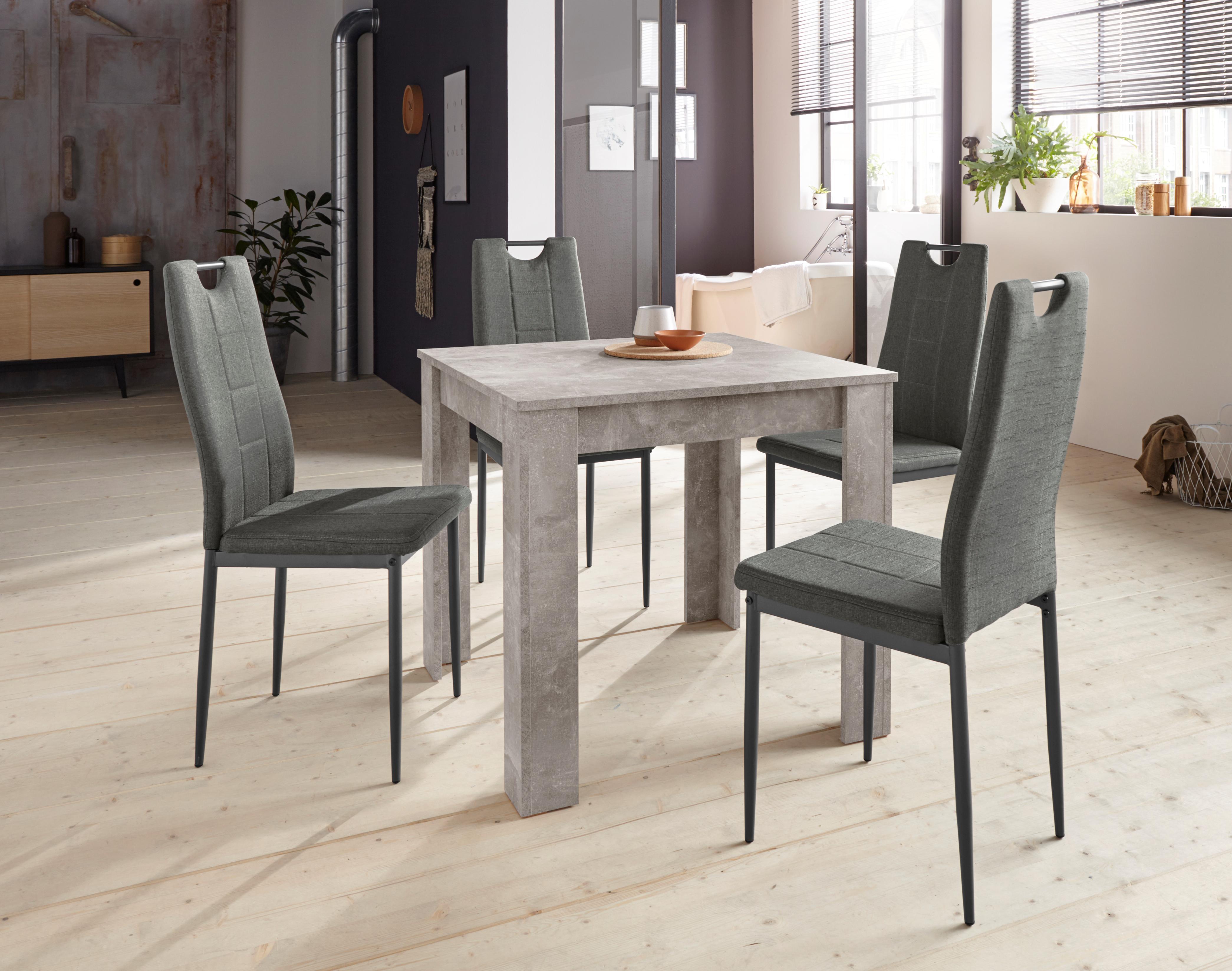 Essgruppe RONJA Gbestehend aus einem Tisch und 4 Stühlen (5-tlg)