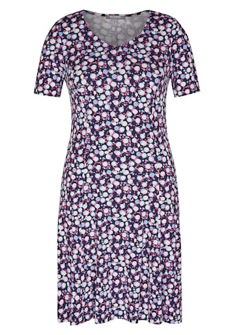 Rabe Kleid mit Allover - Print und Raffungen kaufen