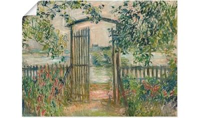 Artland Wandbild »Das Gartentor in Vetheuil«, Garten, (1 St.), in vielen Größen &... kaufen