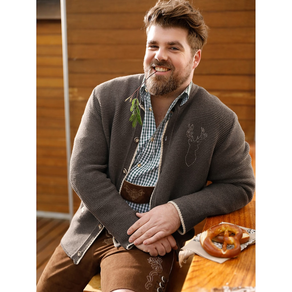 Men Plus by HAPPYsize Strickjacke im Trachten-Stil