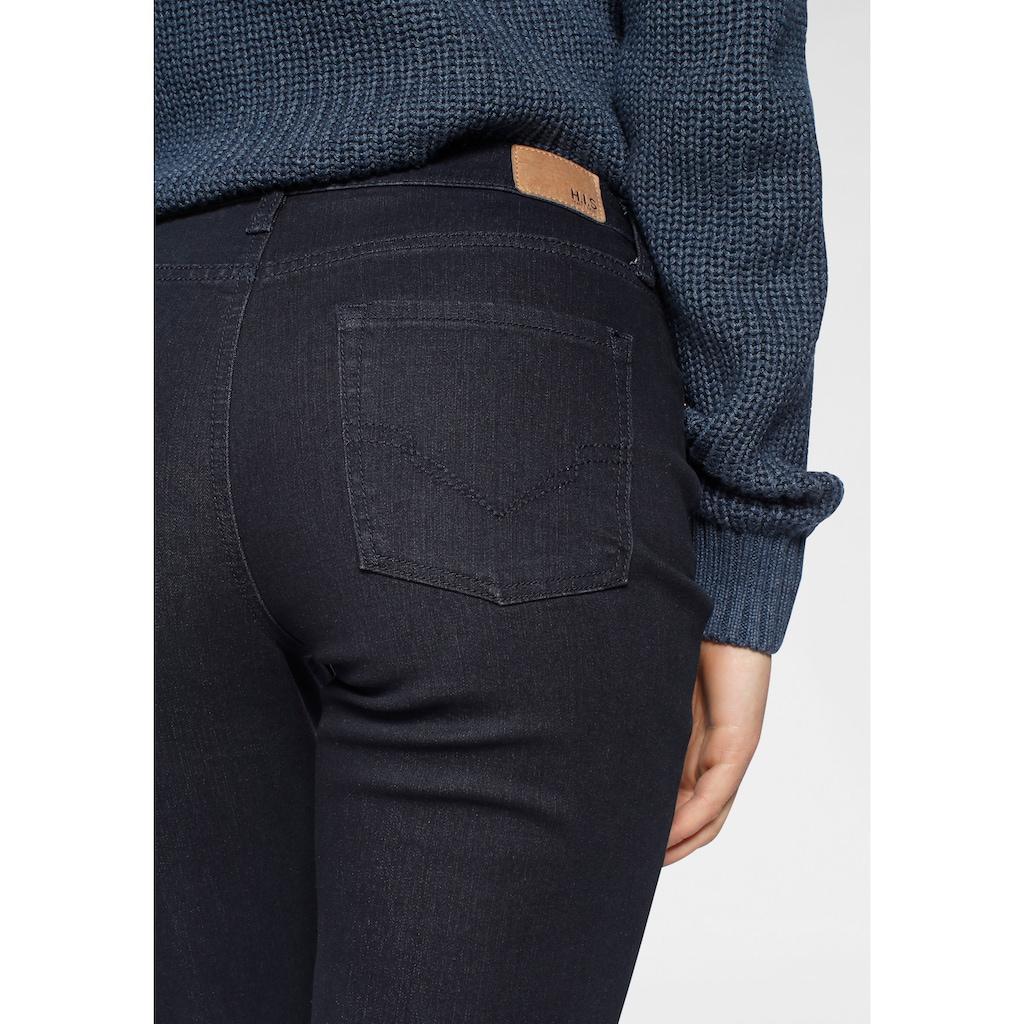 H.I.S Straight-Jeans »High-Waist«, Nachhaltige, wassersparende Produktion durch OZON WASH