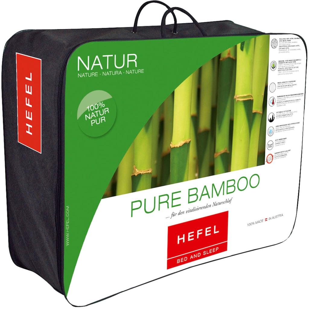 Hefel Naturfaserbettdecke »Pure Bamboo«, extraleicht, (1 St.), optimal für die Sommerzeit!