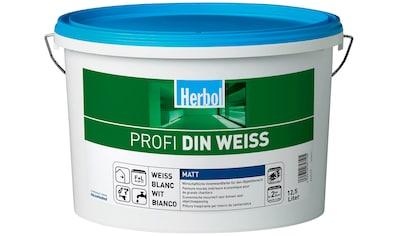 Herbol Wand- und Deckenfarbe »Profi DIN weiß«, 12,5 Liter, weiß kaufen