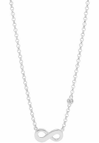 Fossil Silberkette »Infinity/Unendlichkeit, INFINITIVE LOVE, JFS00394040«, mit Zirkonia kaufen