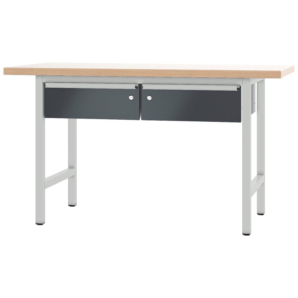 PADOR Werkbank »700.1.1.700«, L/T/H: 150x70x85,5 cm, abschließbar