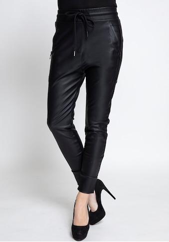 Zhrill Jogger Pants »FABIA FAKE LEATHER«, Lederimitathose im Joggerstil mit elastischem Bündchen kaufen