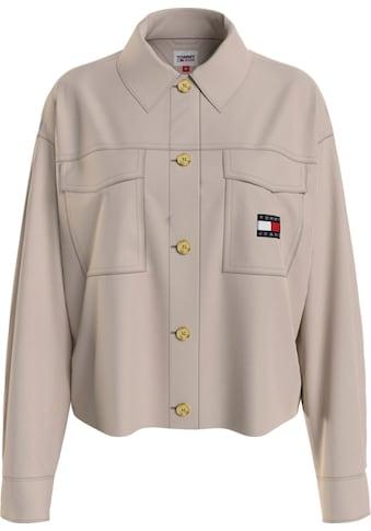 Tommy Jeans Hemdbluse »TJW CROPPED BADGE OVERSHIRT«, mit großen aufgesetzen... kaufen