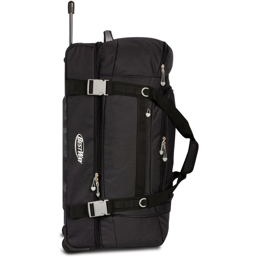 fabrizio® Reisetasche »Bestway Rollenreisetasche XXL, schwarz«
