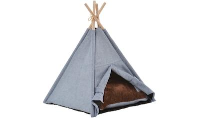 SILVIO DESIGN Hundehöhle und Katzenhöhle »Heimtier - Tipi Manapi«, BxLxH: 46x41x53 cm kaufen