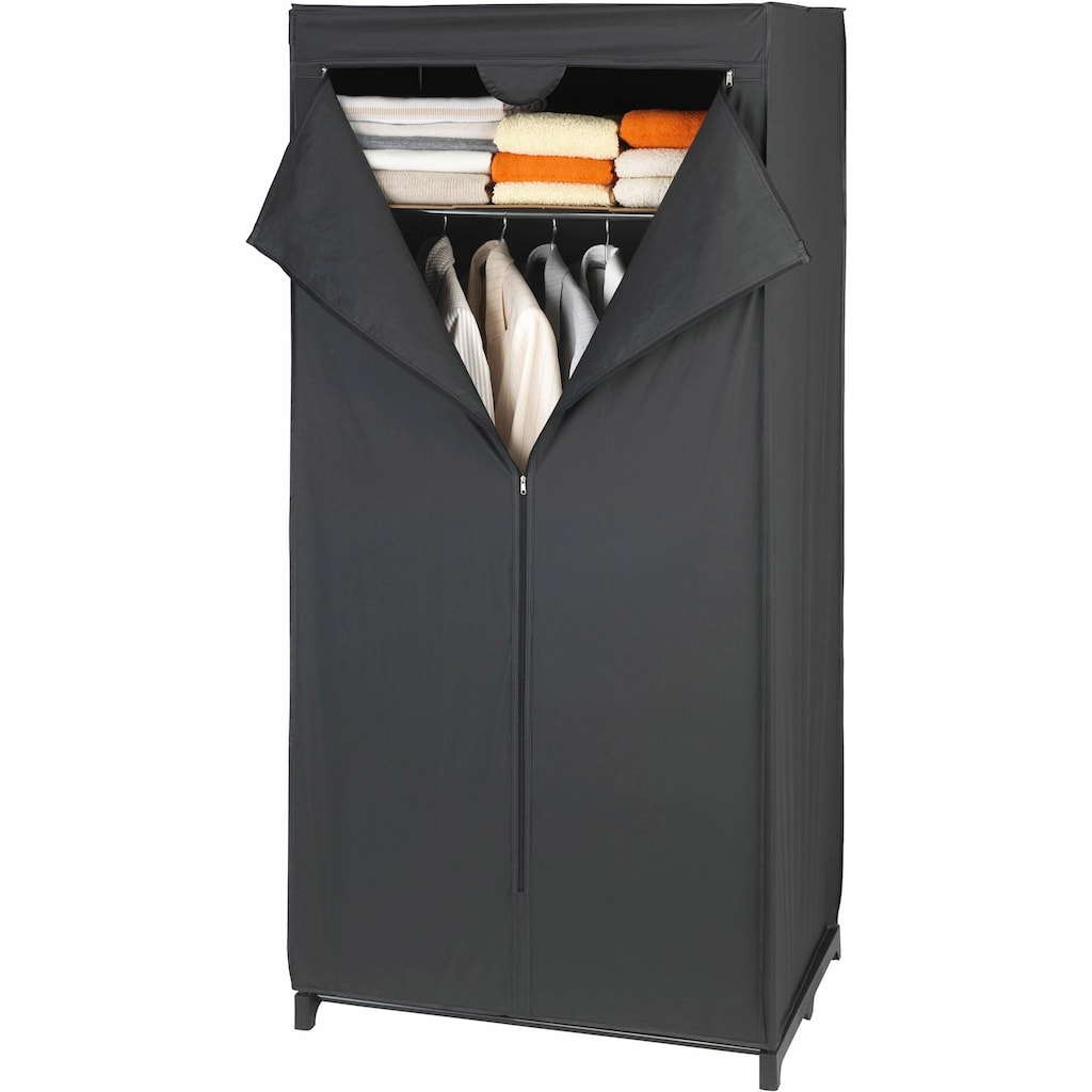 WENKO Kleiderschrank »Deep Black«, Maße (B x H x T): 75 x 160 x 50 cm