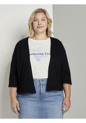 TOM TAILOR MY TRUE ME Sweatshirt »Kurzer Cardigan mit Häkel - Details« kaufen