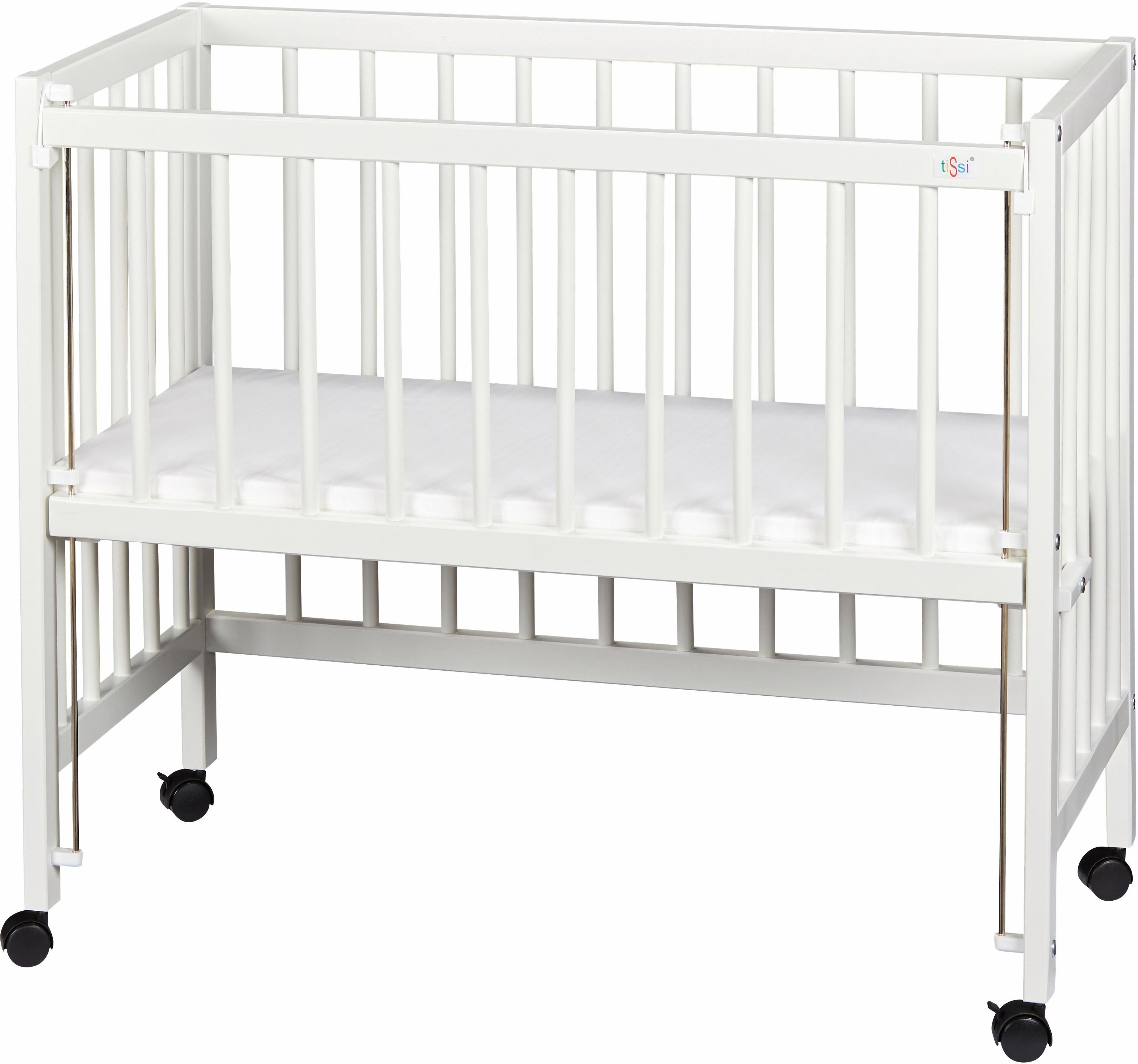 tiSsi Beistellbett Weiß, Made in Europe weiß Baby Beistellbetten Babybetten Babymöbel