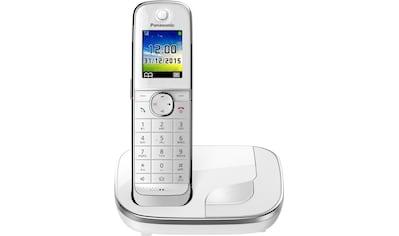 Panasonic Schnurloses DECT-Telefon »KX-TGJ310«, (Mobilteile: 1 ), Weckfunktion, Freisprechen kaufen