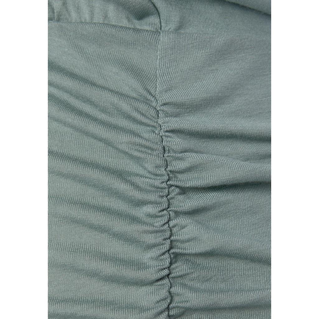 Buffalo Kurzarmshirt, mit tiefem Ausschnitt hinten