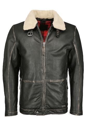 MUSTANG Lederjacke »31019258«, mit abnehmbarem Fake Fur Kragen kaufen