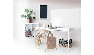 hammel Schreibtisch »MISTRAL«, mit weißem Metallgestell und drei Schubladen, Breite... kaufen