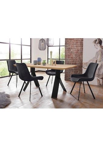 Homexperts Essgruppe »Rose-Bridge«, (Set, 5 tlg.), Tisch - Breite 160 cm + 4 Stühle kaufen