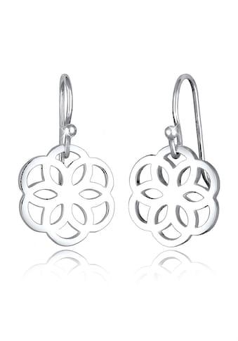 Elli Paar Ohrhänger »Blume Ornament Cut - Out Flower of Life Silber« kaufen