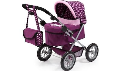 Bayer Puppenwagen »Trendy, pflaume«, mit Wickeltasche kaufen