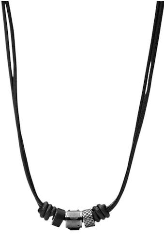 Fossil Kette mit Anhänger »JF00501797«, mit schwarzem Marmor kaufen