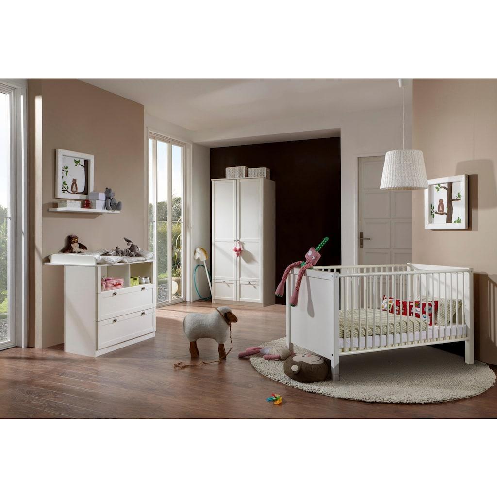 Babyzimmer-Komplettset »Helsingborg«, (Set, 3 St.), Bett + Wickelkommode + 2 trg. Schrank