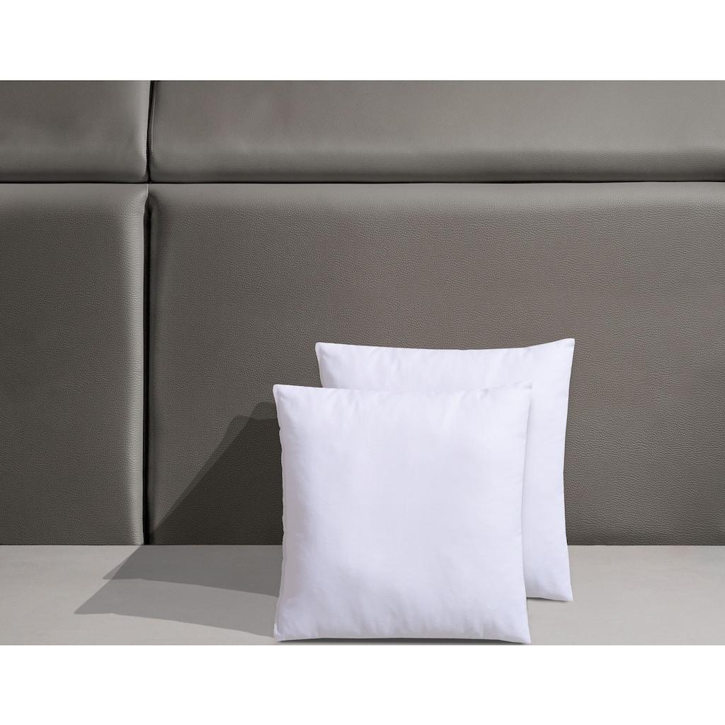 f.a.n. Schlafkomfort Microfaserkissen »Kissenparade«, Bezug: 100% Baumwolle, (2 St.), Allround-Kissen im Spar-Set