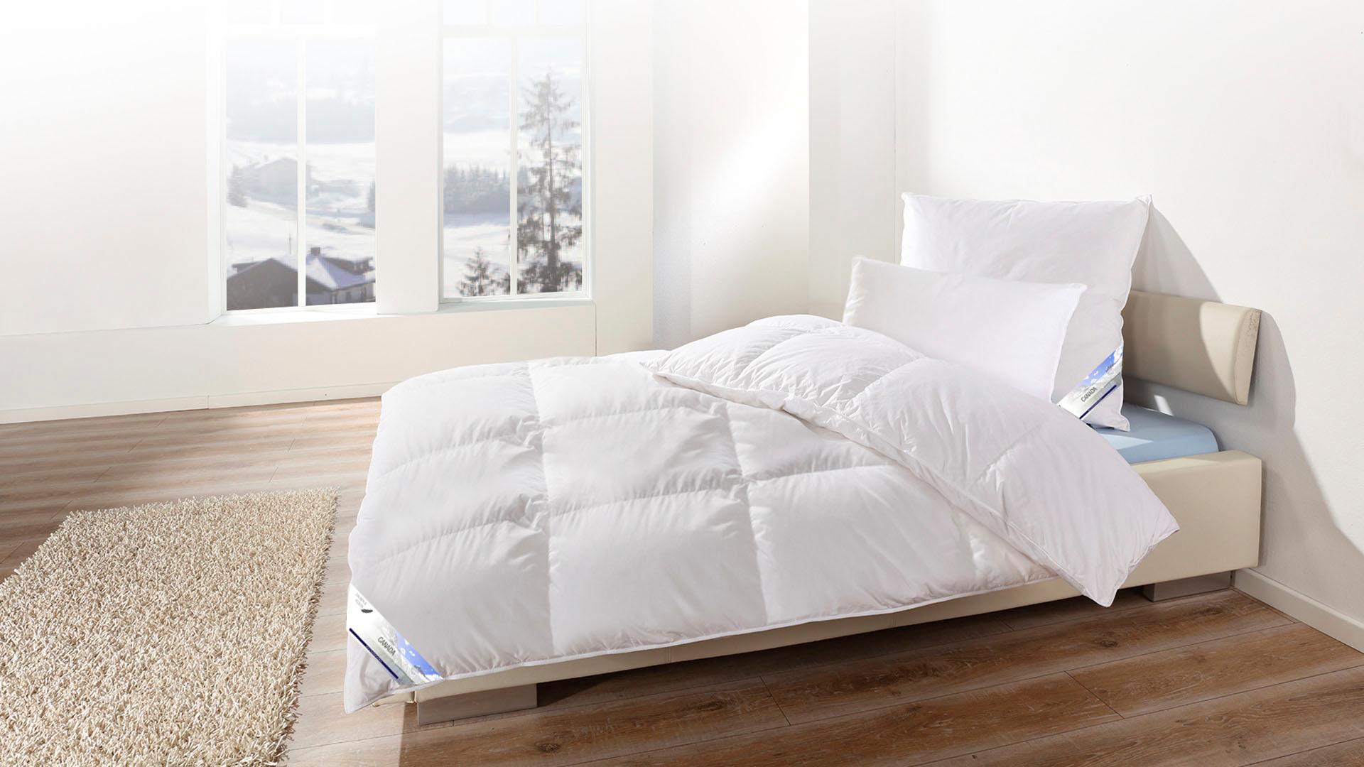 Daunenbettdecke Canada KBT Bettwaren extrawarm Füllung: 60% Daunen 40% Federn Bezug: 100% Baumwolle
