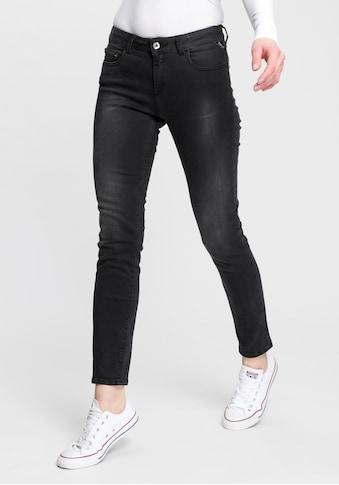 Replay 7/8-Jeans »Faaby«, im Used-Look mit zartem Glitzer-Effekt kaufen