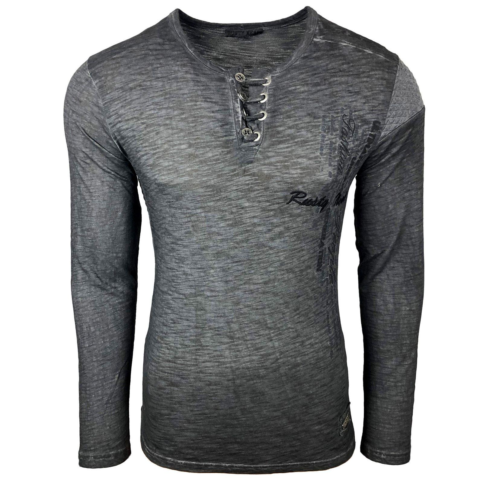rusty neal -  Langarmshirt mit Schnürung