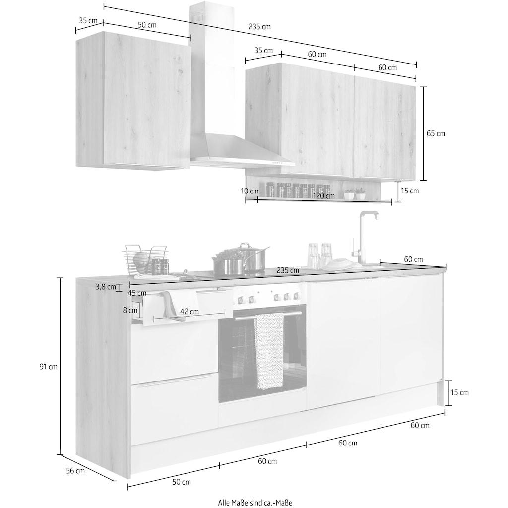 set one by Musterring Küchenzeile »Nashville«, (Set), mit E-Geräten, Breite 235 cm